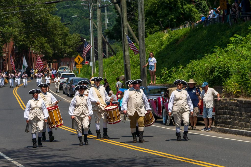 Fife & Drum Marching in the Parade