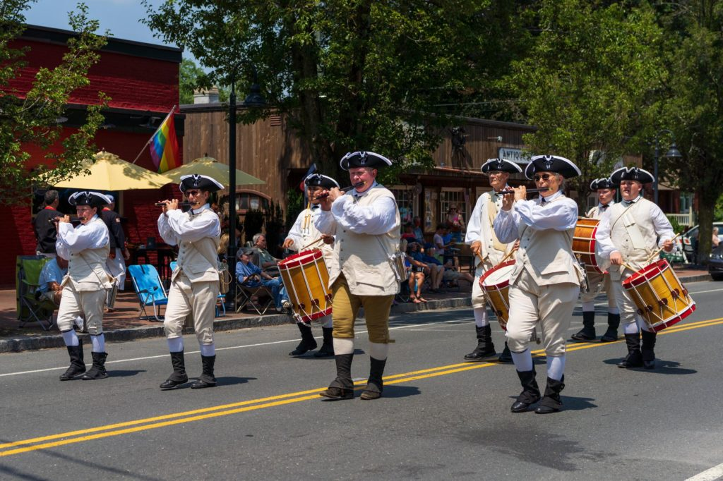 Fife and Drum marching the parade